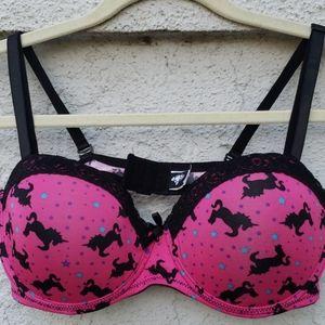 NWOT Hot Topic Hot Pink Unicorn Bra 36DD